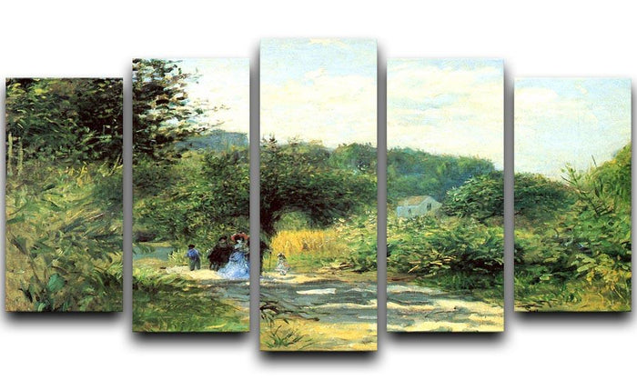Road to Louveciennes by Renoir 5 Split Panel Canvas
