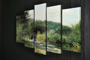 Road to Louveciennes by Renoir 5 Split Panel Canvas - Canvas Art Rocks - 2