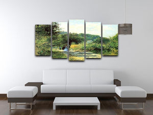 Road to Louveciennes by Renoir 5 Split Panel Canvas - Canvas Art Rocks - 3