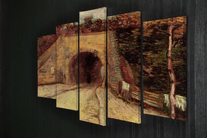 Roadway with Underpass The Viaduct by Van Gogh 5 Split Panel Canvas - Canvas Art Rocks - 2