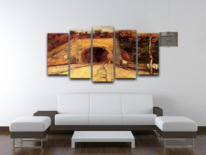 Roadway with Underpass The Viaduct by Van Gogh 5 Split Panel Canvas - Canvas Art Rocks - 3