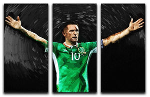 Robbie Keane Ireland 3 Split Panel Canvas Print - Canvas Art Rocks - 1