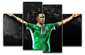 Robbie Keane Ireland 4 Split Panel Canvas  - Canvas Art Rocks - 1