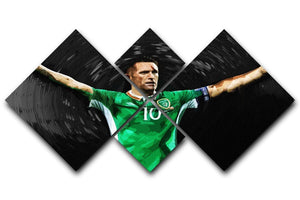 Robbie Keane Ireland 4 Square Multi Panel Canvas  - Canvas Art Rocks - 1