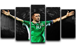 Robbie Keane Ireland 5 Split Panel Canvas  - Canvas Art Rocks - 1