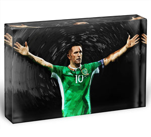 Robbie Keane Ireland Acrylic Block - Canvas Art Rocks - 1