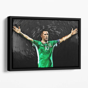 Robbie Keane Ireland Floating Framed Canvas