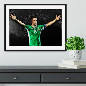Robbie Keane Ireland Framed Print - Canvas Art Rocks - 1