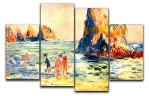Rock cliffs in Guernsey by Renoir 4 Split Panel Canvas  - Canvas Art Rocks - 1