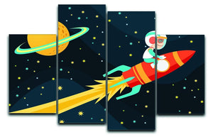 Rocket Boy 4 Split Panel Canvas  - Canvas Art Rocks - 1