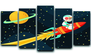 Rocket Boy 5 Split Panel Canvas  - Canvas Art Rocks - 1