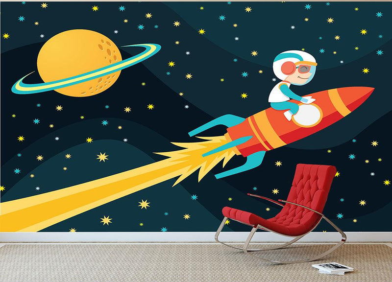 Rocket Boy Wall Mural Wallpaper - Canvas Art Rocks - 1