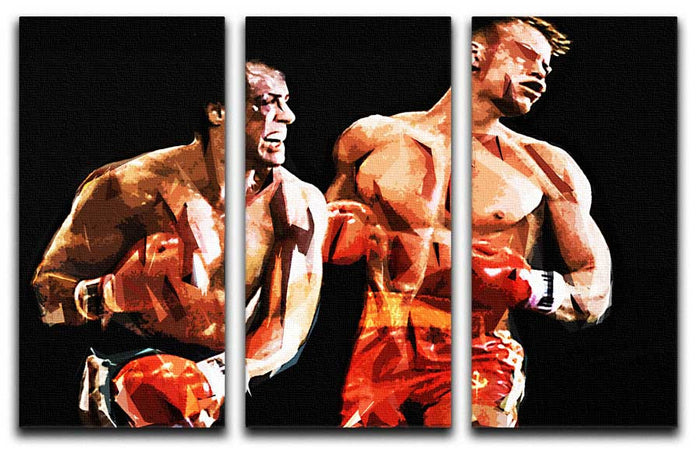 Rocky IV 3 Split Canvas Print