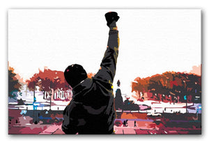 Rocky in Training Print - Canvas Art Rocks - 1