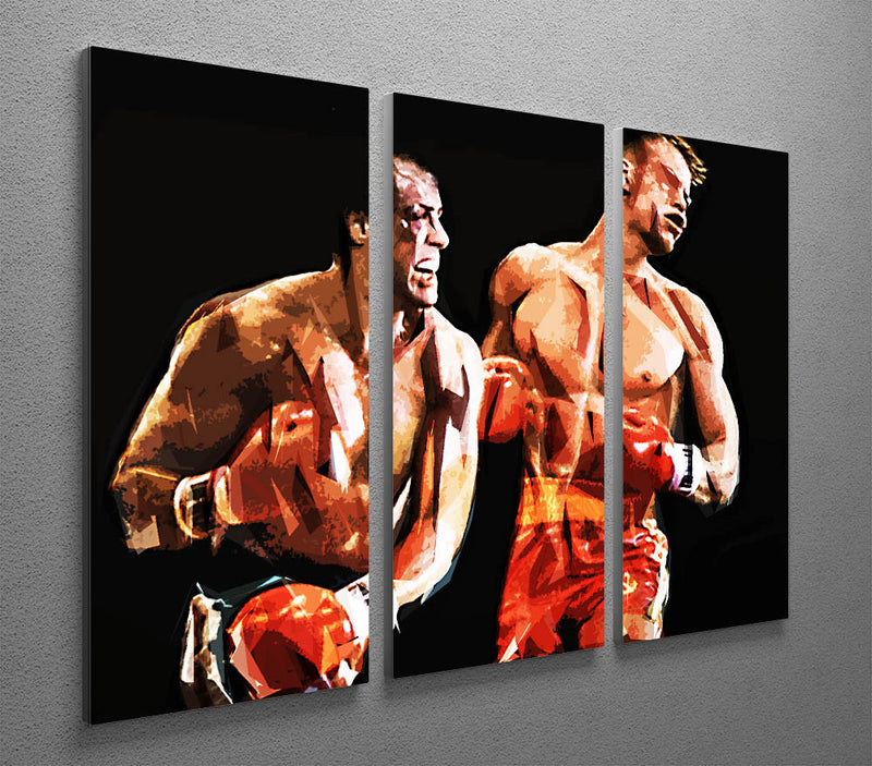 Rocky III 3 Split Panel Canvas Print - Canvas Art Rocks