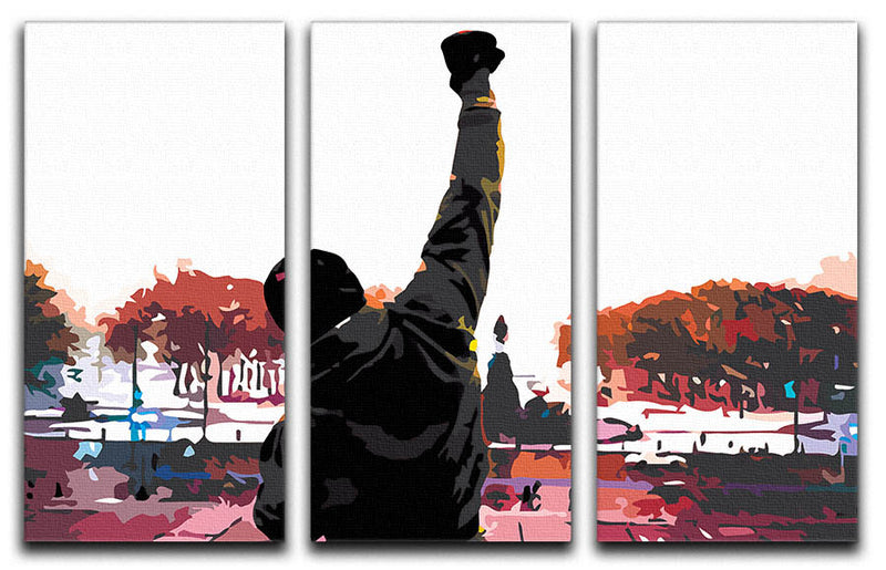 Rocky in Training 3 Split Panel Canvas Print - Canvas Art Rocks