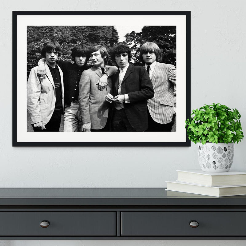 Rolling Stones 1964 Framed Print - Canvas Art Rocks - 1
