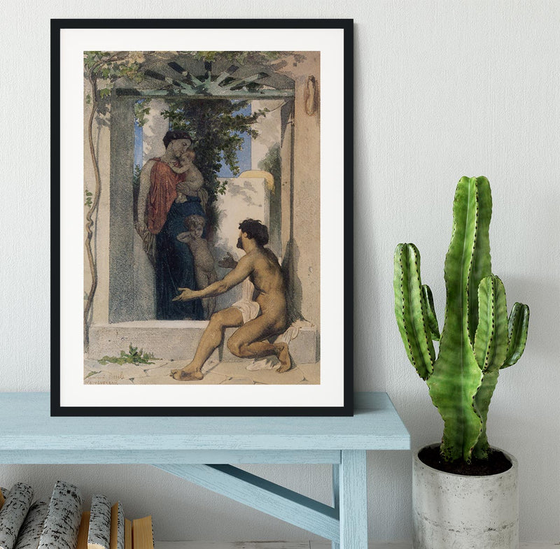 Roman Charity Unknown By Bouguereau Framed Print - Canvas Art Rocks - 1