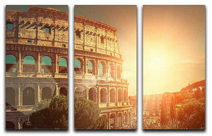 Roman Coliseum 3 Split Panel Canvas Print - Canvas Art Rocks - 1