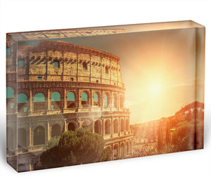 Roman Coliseum Acrylic Block - Canvas Art Rocks - 1