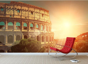 Roman Coliseum Wall Mural Wallpaper - Canvas Art Rocks - 2