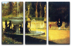 Roman Garden by Alma Tadema 3 Split Panel Canvas Print - Canvas Art Rocks - 1