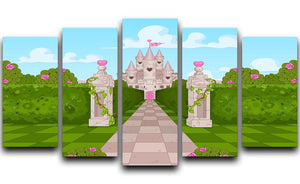 Romantic Castle Landscape 5 Split Panel Canvas  - Canvas Art Rocks - 1