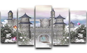 Romantic castle 5 Split Panel Canvas  - Canvas Art Rocks - 1