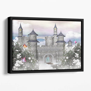Romantic castle Floating Framed Canvas