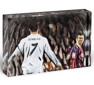 Ronaldo Vs Messi Acrylic Block - Canvas Art Rocks - 1