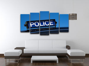 Rooftop sign on a vintage british police car 5 Split Panel Canvas  - Canvas Art Rocks - 3