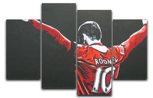 Wayne Rooney 4 Split Canvas Print - They'll Love Wall Art - 1