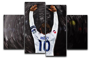 Rooney England 4 Split Panel Canvas  - Canvas Art Rocks - 1