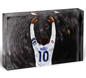 Rooney England Acrylic Block - Canvas Art Rocks - 1