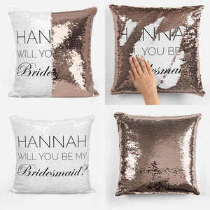 Personalised Will You Be My - Reveal Pillow Cushion