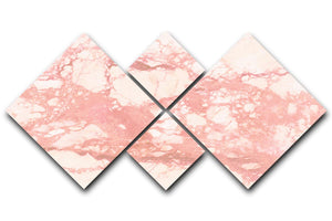 Rose Gold Marble 4 Square Multi Panel Canvas - Canvas Art Rocks - 1