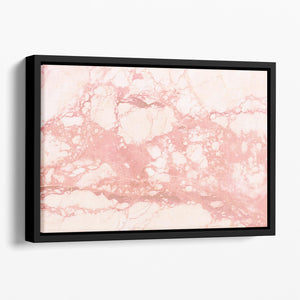 Rose Gold Marble Floating Framed Canvas - Canvas Art Rocks - 1
