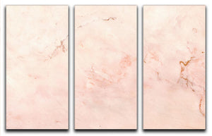 Rose Gold Minimal Marble 3 Split Panel Canvas Print - Canvas Art Rocks - 1