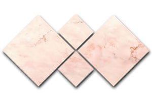 Rose Gold Minimal Marble 4 Square Multi Panel Canvas - Canvas Art Rocks - 1