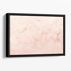Rose Gold Minimal Marble Floating Framed Canvas - Canvas Art Rocks - 1