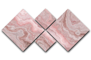 Rose Marble 4 Square Multi Panel Canvas - Canvas Art Rocks - 1