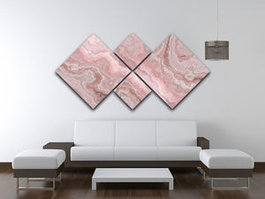 Rose Marble 4 Square Multi Panel Canvas - Canvas Art Rocks - 3