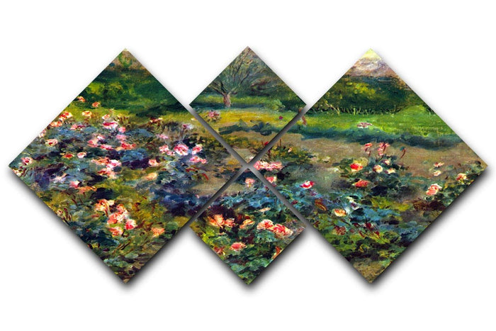 Rose grove by Renoir 4 Square Multi Panel Canvas