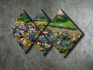 Rose grove by Renoir 4 Square Multi Panel Canvas - Canvas Art Rocks - 2