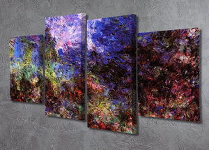 Roses at the garden side of Monets house in Giverny by Monet 4 Split Panel Canvas - Canvas Art Rocks - 2