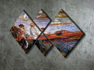 Rowers from Chatou by Renoir 4 Square Multi Panel Canvas - Canvas Art Rocks - 2