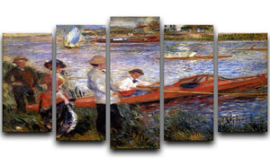 Rowers from Chatou by Renoir 5 Split Panel Canvas  - Canvas Art Rocks - 1