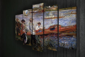Rowers from Chatou by Renoir 5 Split Panel Canvas - Canvas Art Rocks - 2