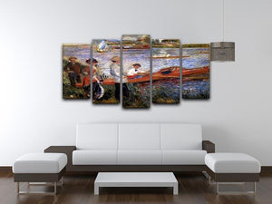 Rowers from Chatou by Renoir 5 Split Panel Canvas - Canvas Art Rocks - 3