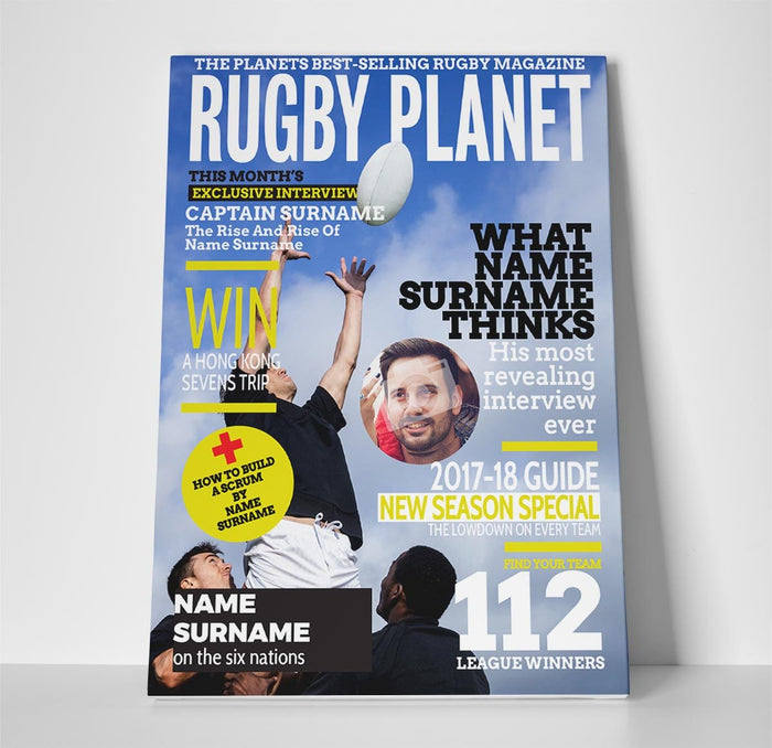 Rugby World Magazine Cover Spoof Canvas Print